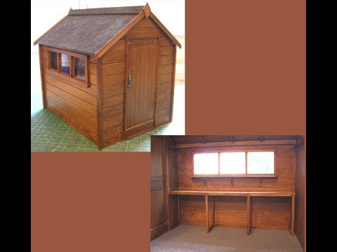 1/12th Scale Garden Shed Workbench Tutorial