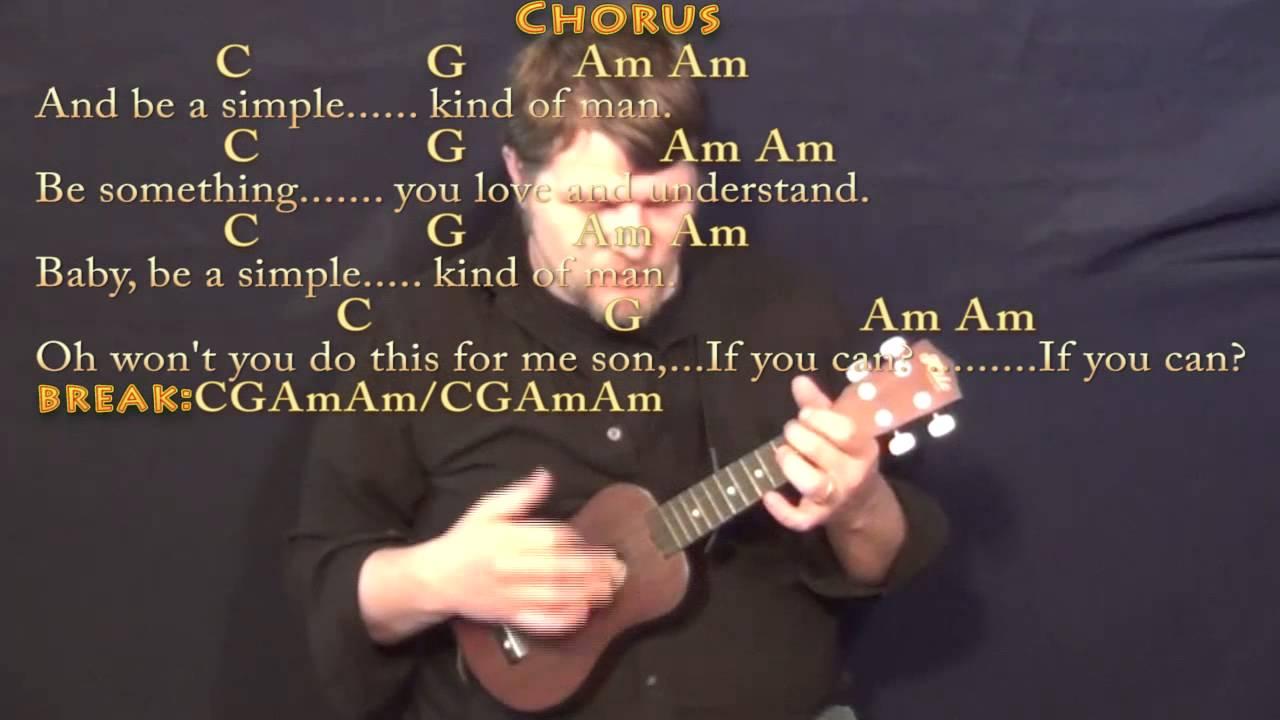 Simple Man Lynyrd Skynyrd Ukulele Cover Lesson With Chordslyrics