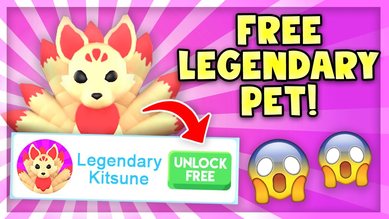 How To Get A Free Legendary Kitsune Pet In Adopt Me Roblox Adopt Me Youtube