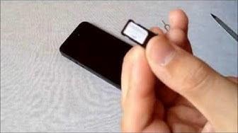Micro-SIM zu Nano-SIM für iPhone 5/6(S) - Tutorial