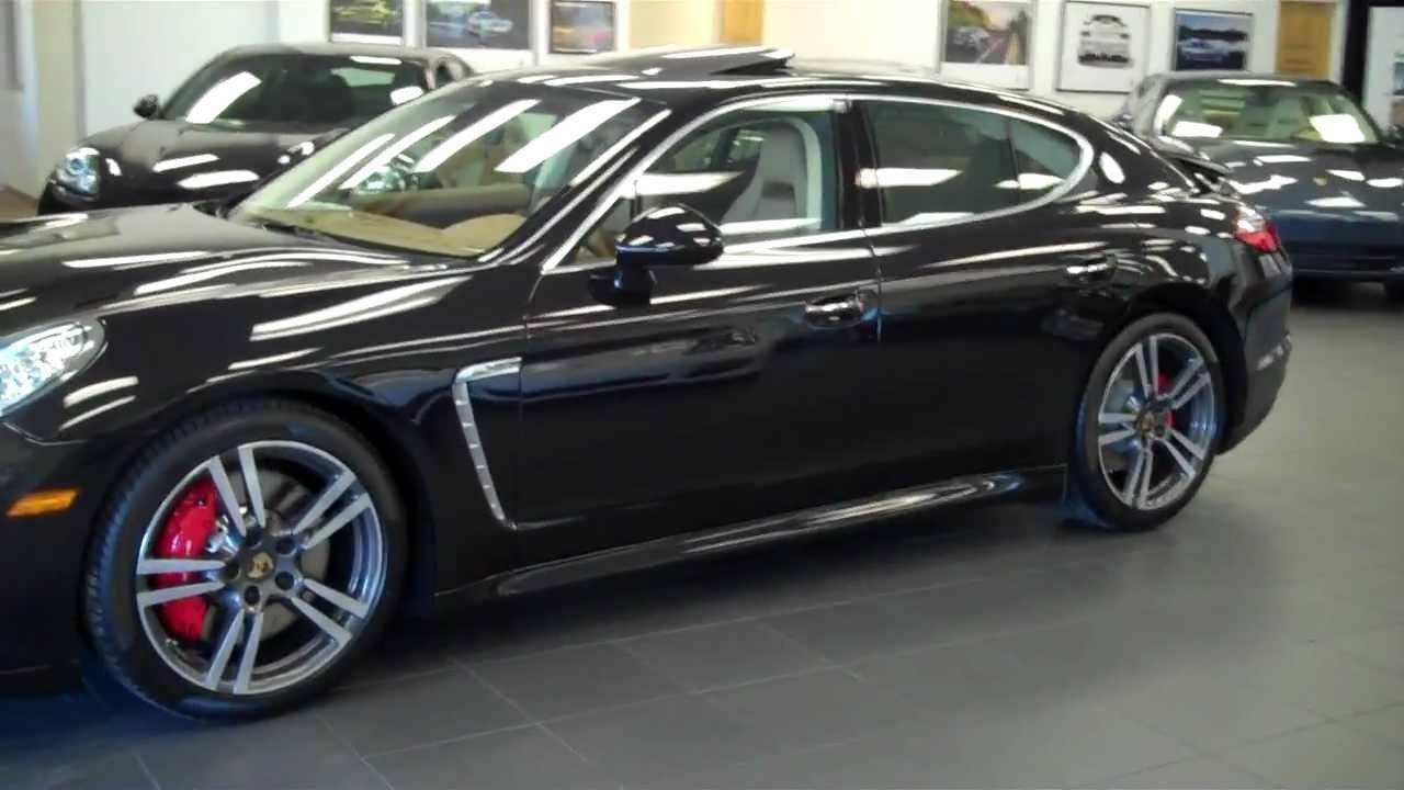 black 2012 porsche panamera turbo exterior