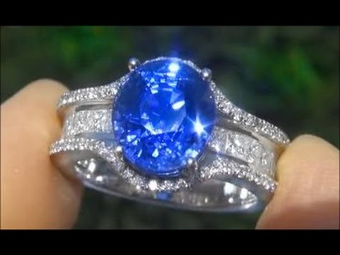 gia classic products cornflower diamond sapphire fine ring natural grande