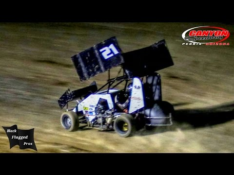 Restricted Mini Sprint Main At Canyon Speedway Park September 24th 2016