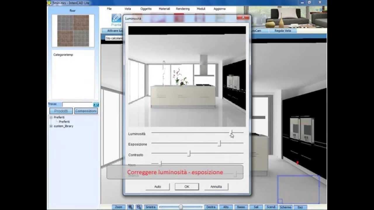 Progettare una cucina in pochi minuti tutorial rendering for Programma arredamento 3d