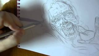 Zombie The Walking Dead)   How to Draw