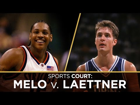 Is the greatest NCAA tournament player ever Carmelo Anthony or Christian Laettner?