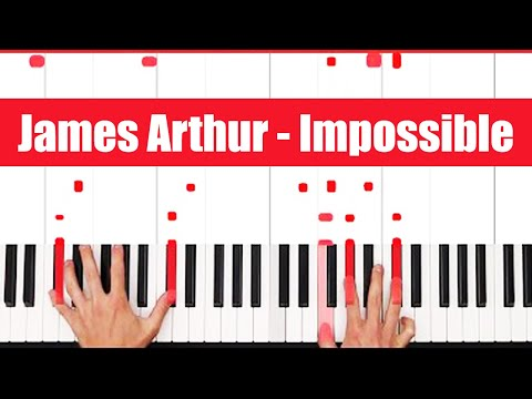 Impossible James Arthur Piano Tutorial - CHORDS