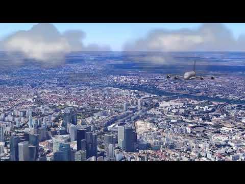Google Earth Studio - Video Animation of A380 flight