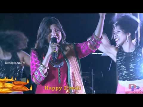 Alka Yagnik Singing Ek do Tin Char song at DFWICS Diwali Mela 2015 at Dallas.
