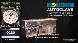 AmeriVap Houdini Autoclave Tool for Cleaning & Sanitizing Shop & Maintenance Tools & Equipment