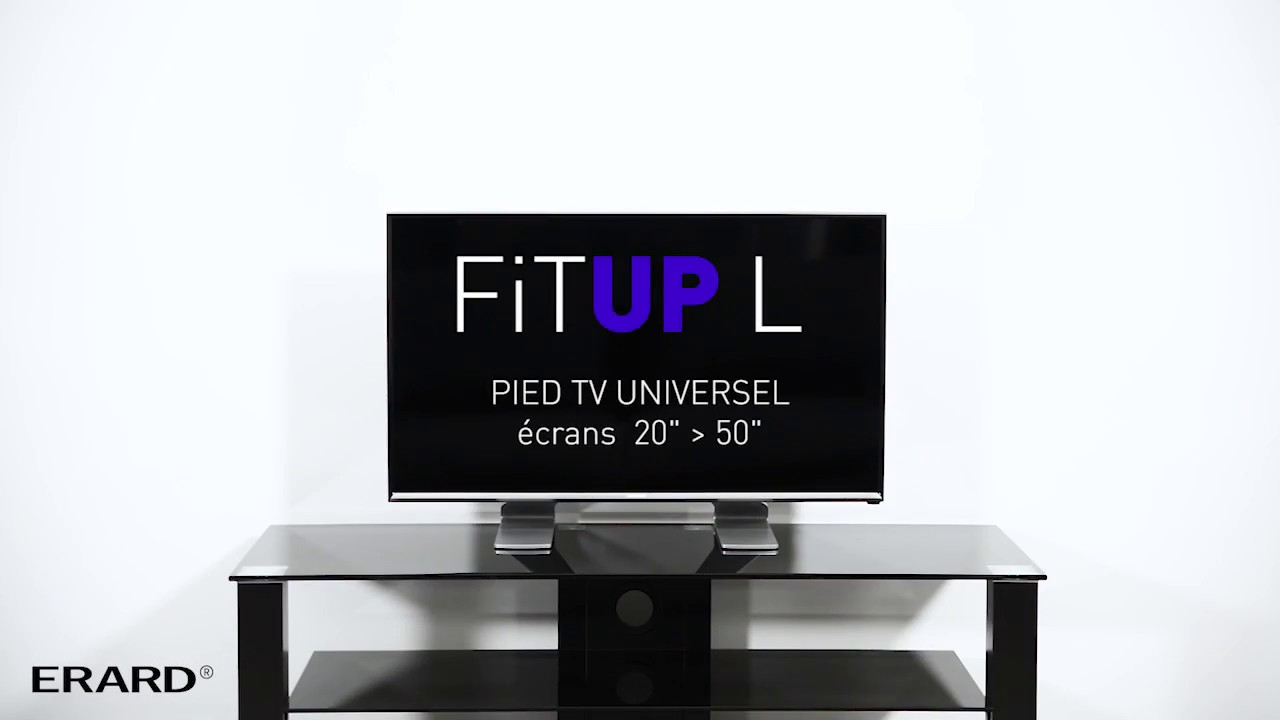 Fit Up L Et Xl Pied Tv De Table Universel Youtube