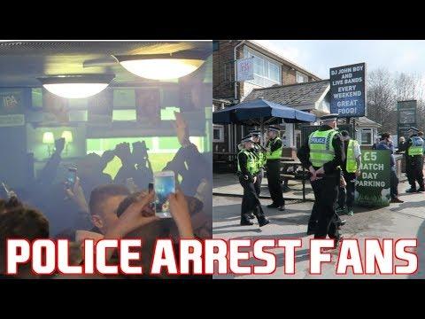 Bolton Wanderers Fans Smash Up Leeds United Pub *POLICE ARREST FANS*