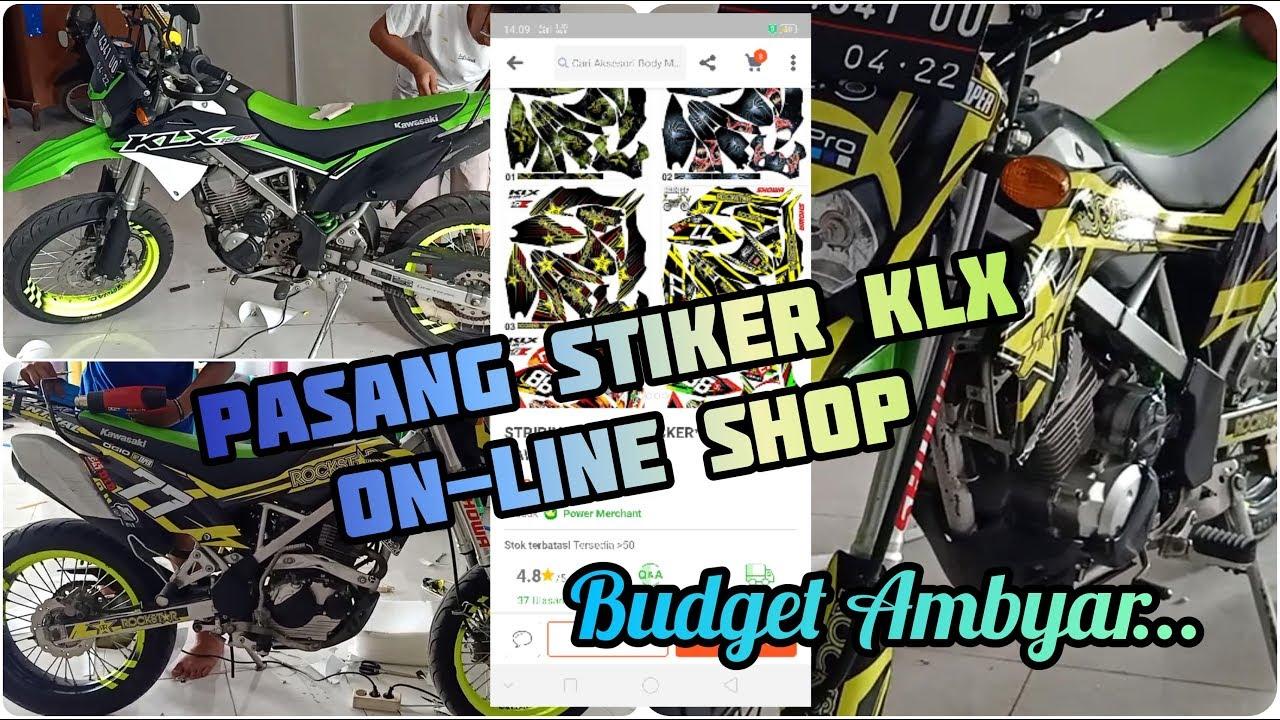 Pasang Stiker Klx Online Shop Budget Ambyar Youtube