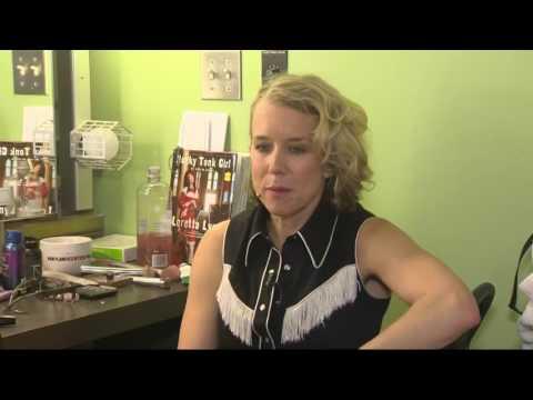 Backstage with Lauren Weedman at Her Hit