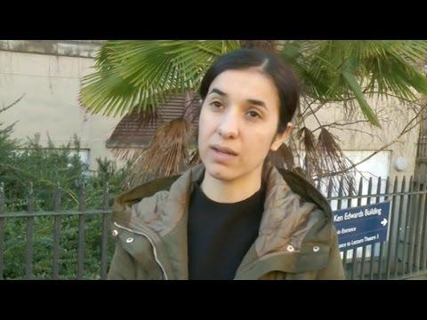 UN Goodwill Ambassador Nadia Murad at the...