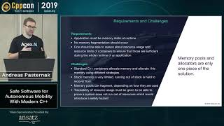 """CppCon 2019: Andreas Pasternak """"Safe Software for Autonomous Mobility With Modern C++"""""""
