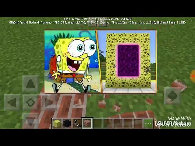 Cara membuat portal spongebob/g o d