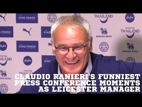 Claudio Ranieri's Funniest Press Conference Moments As Leicester Manager 😂