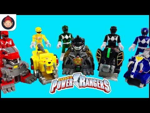Imaginext Power Rangers Battle Armor Green Ranger Yellow Ranger Blue Ranger Red Ranger Black Ranger