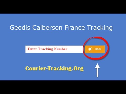 Geodis Calberson France Tracking Guide
