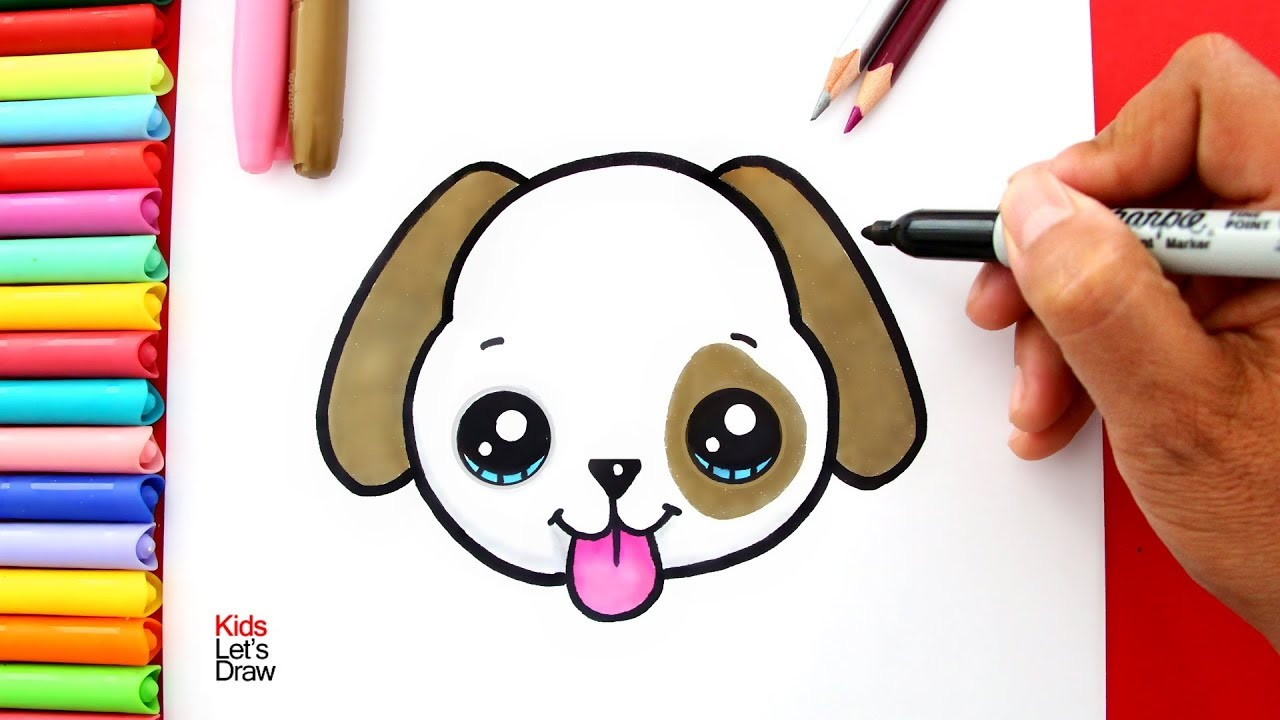 Como Dibujar Un Perro Kawaii Youtube