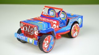 An Amazing Car (Jeep) Making from Toothpaste box | Colgate Craft