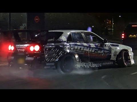 Modified Cars Leaving a Car Meet – January 2018