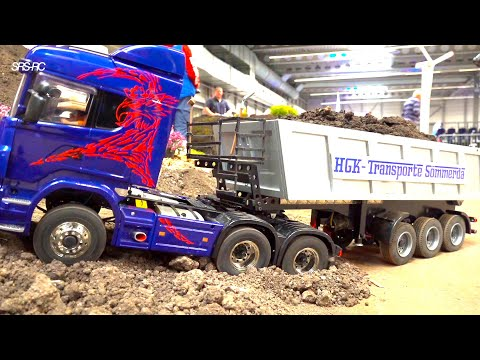 mind-blowing-rc-truck-action//-heavy-haulage-rc-trucks//-rc-fire-fighters//-stucking-rc-truck