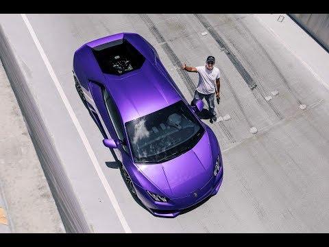 Purple Lamborghini Huracan