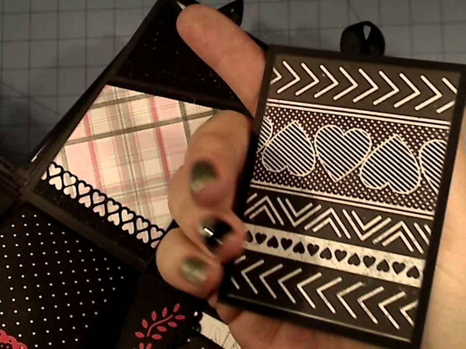 valentine explosion box mini album tutorial classique pretty youtube. Black Bedroom Furniture Sets. Home Design Ideas