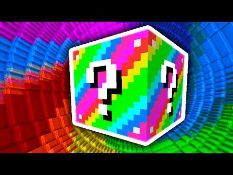 Minecraft 1v1v1v1 RAINBOW LUCKY BLOCK DROPPER! (Minecraft Mods) w/PrestonPlayz & The Pack