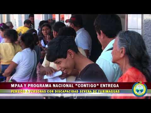 """MPAA Y PROGRAMA NACIONAL """"CONTIGO"""" ENTREGA PENSIÓN A PERSONAS CON DISCAPACIDAD SEVERA"""
