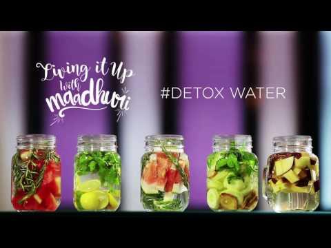 Detox Water   Living it up with Maadhuri   Sanjeev Kapoor Khazana