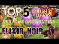 TOP 5 DES PLUS GROS BUTINS ELIXIR NOIR - Clash of Clans