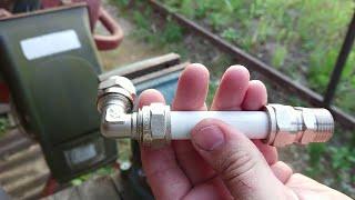 Как подготовить металлопластиковую трубу к монтажу в домашних условиях.Как соединить обжимной фитинг