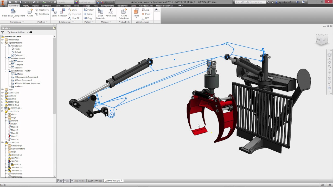 Autodesk Inventor mechanical concept and layout design