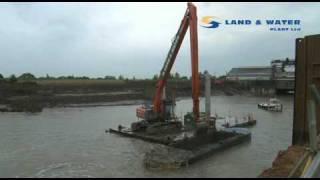 Long Reach Excavator Hitachi ZX 350 22m reach Land & Water