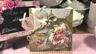Tilda Tea Cup Easel Card. Video Response For  Artattack Supplies Design Team Call