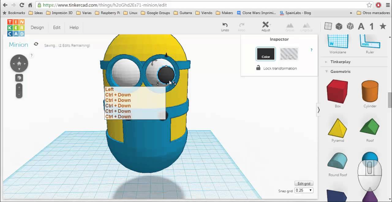 Design A Minion With Tinkercad Youtube: tinkercad 3d