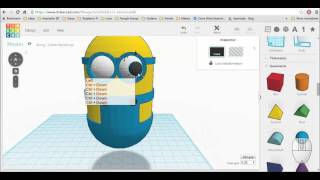 Design a Minion with Tinkercad