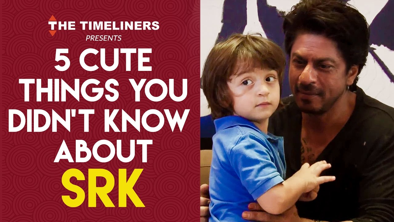 5 Cute Things You Didn't Know About SRK | The Timeliners ...