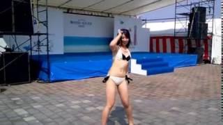 ポートフェスタ2012の中であった水着ファッションショーの前半部分...