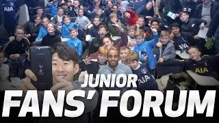 HEUNG-MIN SON AND LUCAS MOURA | JUNIOR FAN FORUM AT HOTSPUR WAY