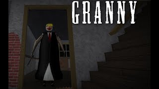 Playing as Granny in Roblox
