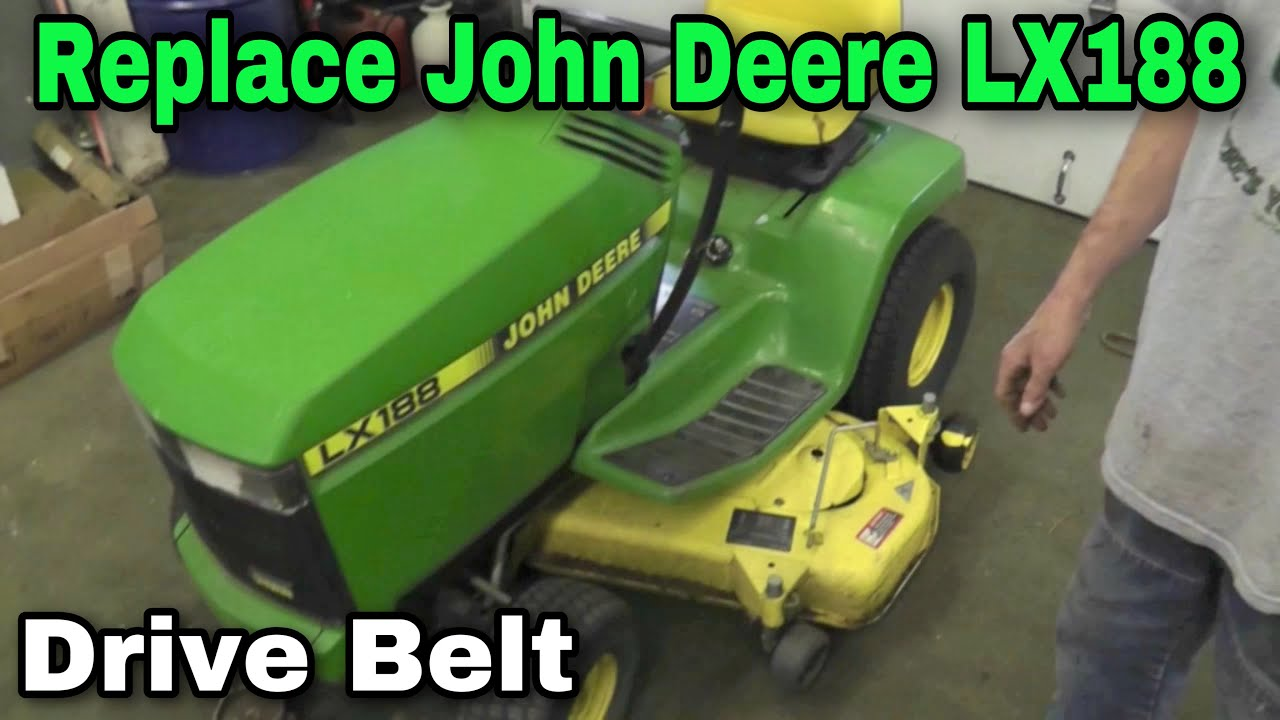 How To Replace A Drive Belt On A John Deere LX 176,178,186,188 with Taryl  YouTube