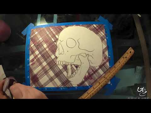 Grunge - Music Themed Skull Time Lapse