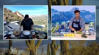 Chef Beau MacMillan Makes Blue Corn Fried Shrimp With Poblano Truffle Aioli
