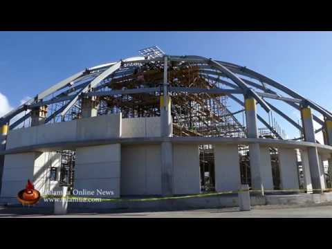 Roof Steel Frame Installation of Samoa's New Parliament Building