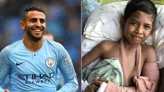 """ماذا فعل محرز مع طفل إندونيسي أصابه الزلزال أثناء مشاهدة مباراة """"مانشستر سيتي""""؟ – (فيديو)"""