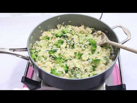 One Pan Broccoli & Cheese Rice | 15 Minute Meal Idea